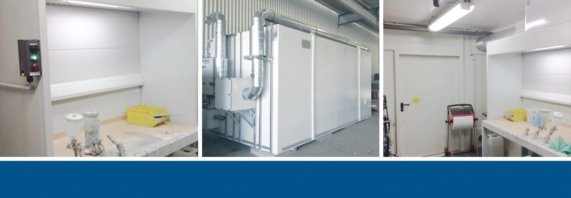 Farbmischraum im Brandschutzcontainer für Siemens