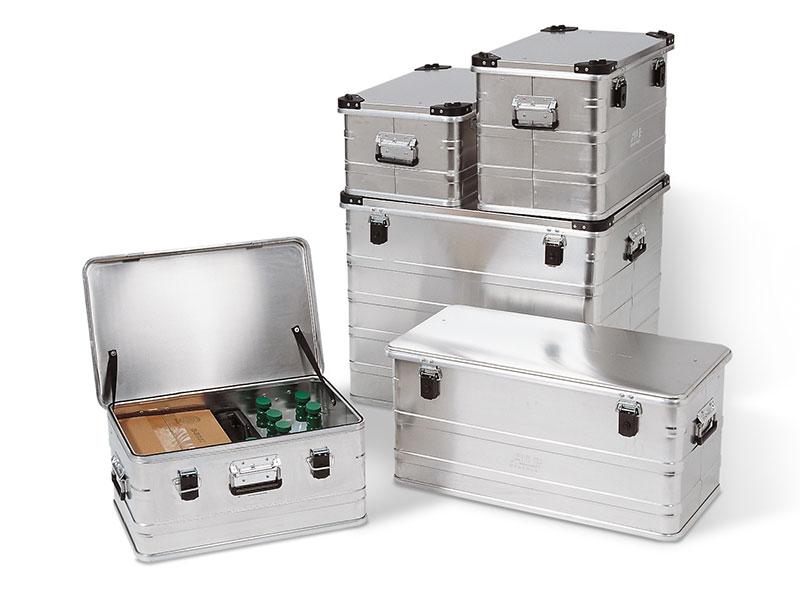 Transportvagn och aluminiumbox